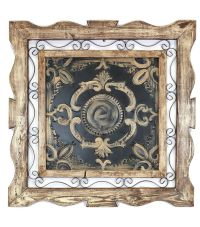 Florence Rustic Architectural Wall Window-Wood Tin & Iron ...