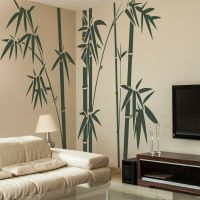 Bamboo Tree Wall Sticker Inspirational Family Vinyl Home ...