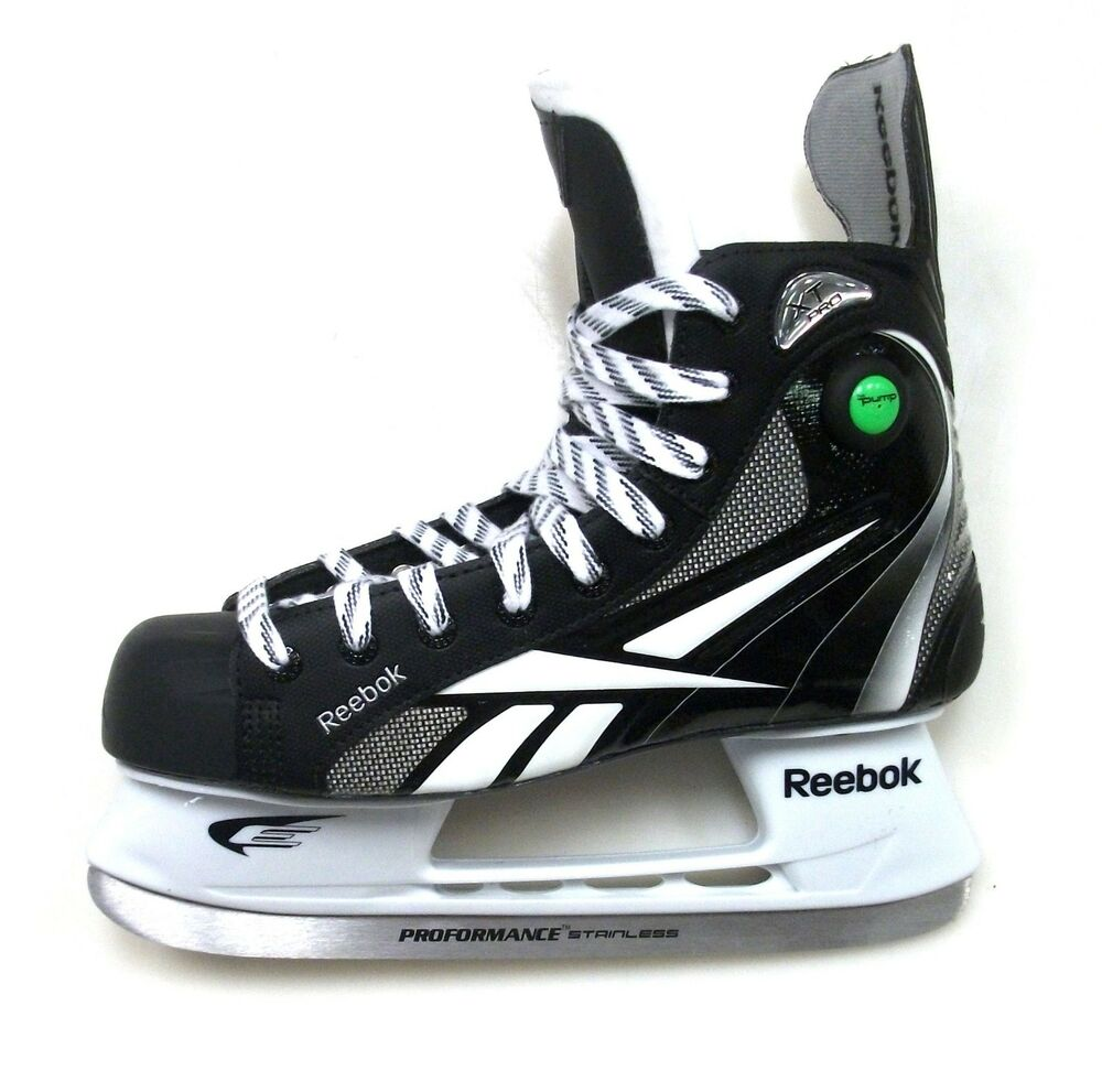 Roller Schuhe Reebok Xt Pro Pump Ice Hockey Skates Senior Size 9.5 D New
