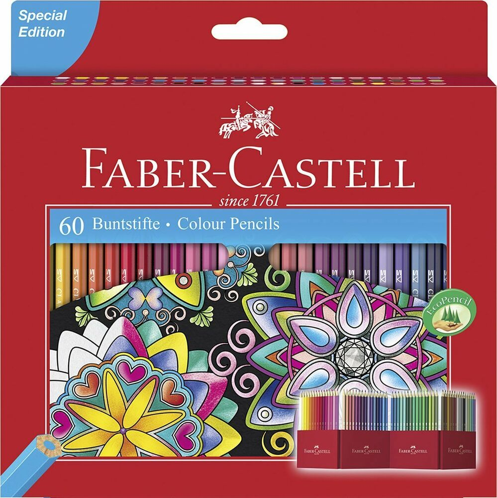 Faber Castell Pinturas Acuarelables Faber Castell Classic Colour Eco Pencil Set Of 60. Artists