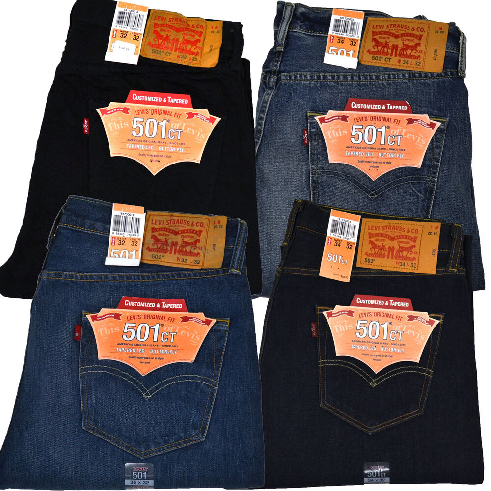 501 Ct Jean Levi Levis 501 Ct Mens Button Fly Jeans Customized And Tapered
