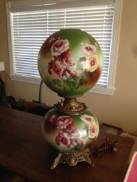 Antique Victorian Gone With The Wind Hand Painted Jumbo ...