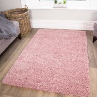Soft Fluffy Thick Kids Pink Shaggy Rugs Baby Pink Shaggy ...