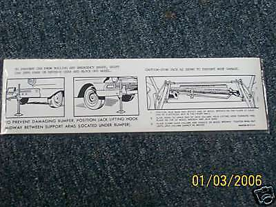 1957 FORD FAIRLANE RETRACTABLE HARDTOP TRUNK JACK DECAL eBay