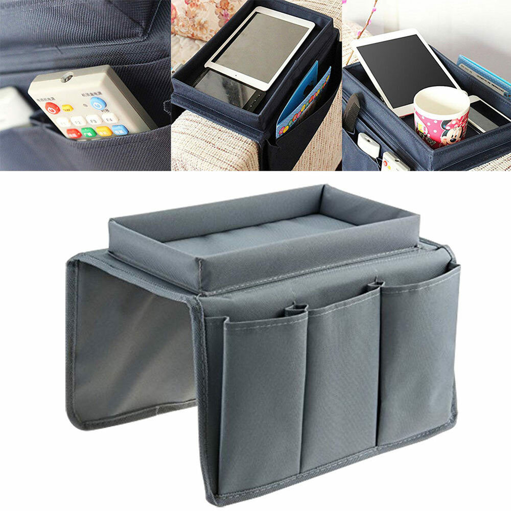 Sofa Arm Organizer Tray Sofa Chair Arm Rest Pocket Organiser Couch Remote Control Storage Tray Holder Ebay