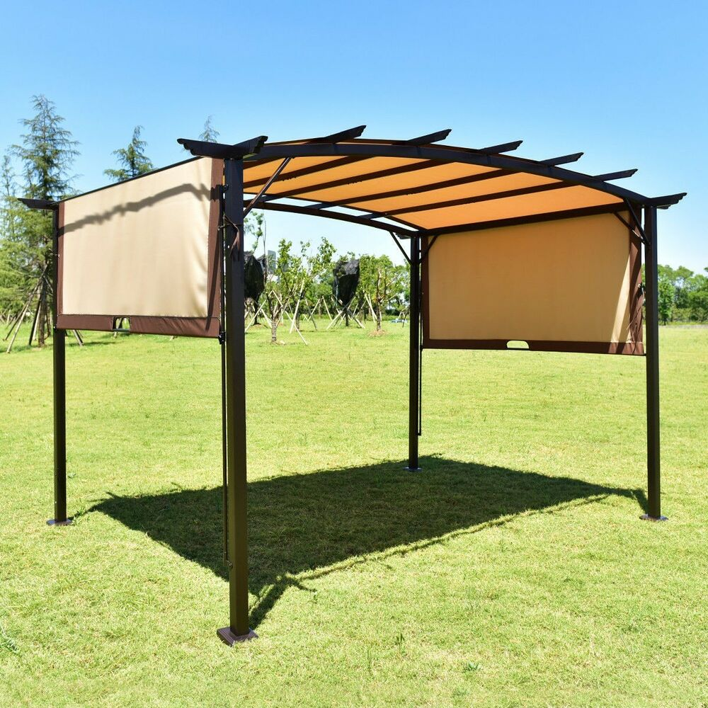 12 39 X 9 39 Sun Shade Pergola Patio Garden Metal Frame Grape - Aluminum Shade Structure Kits