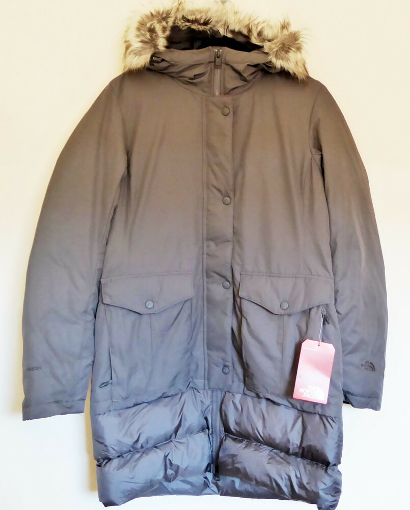 Parka Veste The North Face Femmes Tuvu Parka 550 Fill Veste Doudoune Trench Coat Gris M Ebay