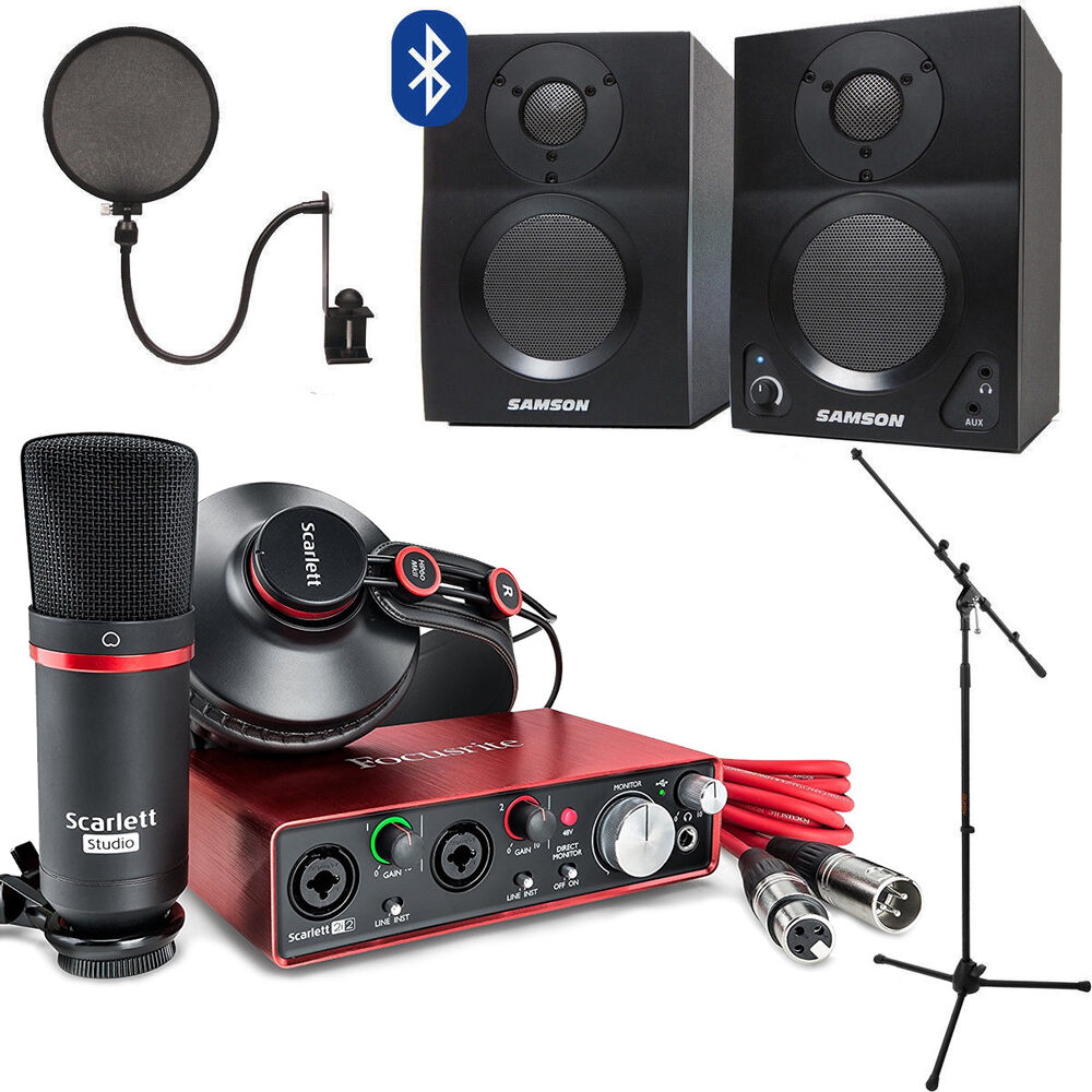 Scarlett 2i2 Focusrite Scarlett 2i2 Studio With Home Recording Kit Gen 2 Ebay