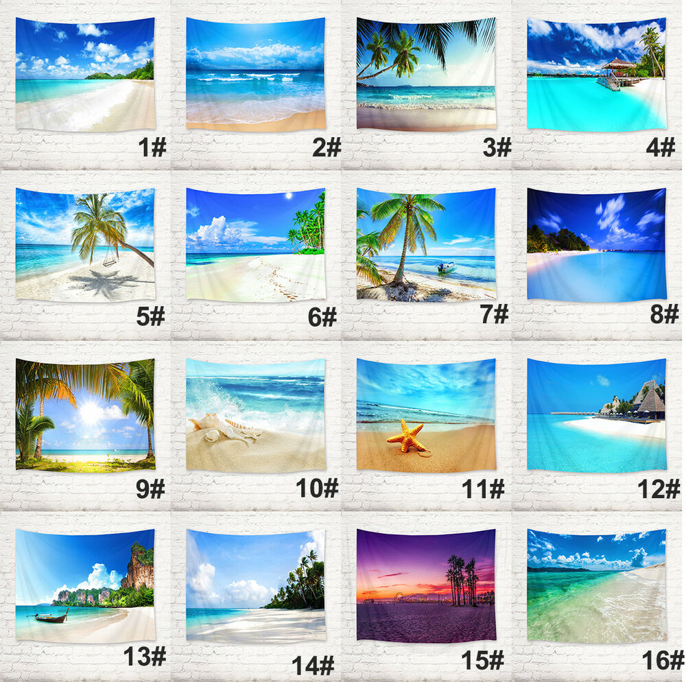Picnic Decor Beach Sandy Scenery Wall Hanging Decor Tapestry Picnic Beach Sheet