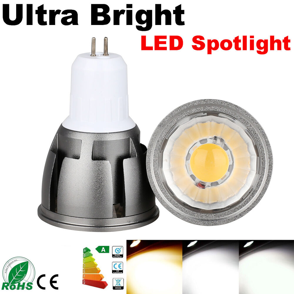 Led Spot Gu10 Dimmable E26 E27 Gu10 Gu5 3 Mr16 6w 9w 12w Led Spot Light Bulb Cob Lamps Bright Ebay