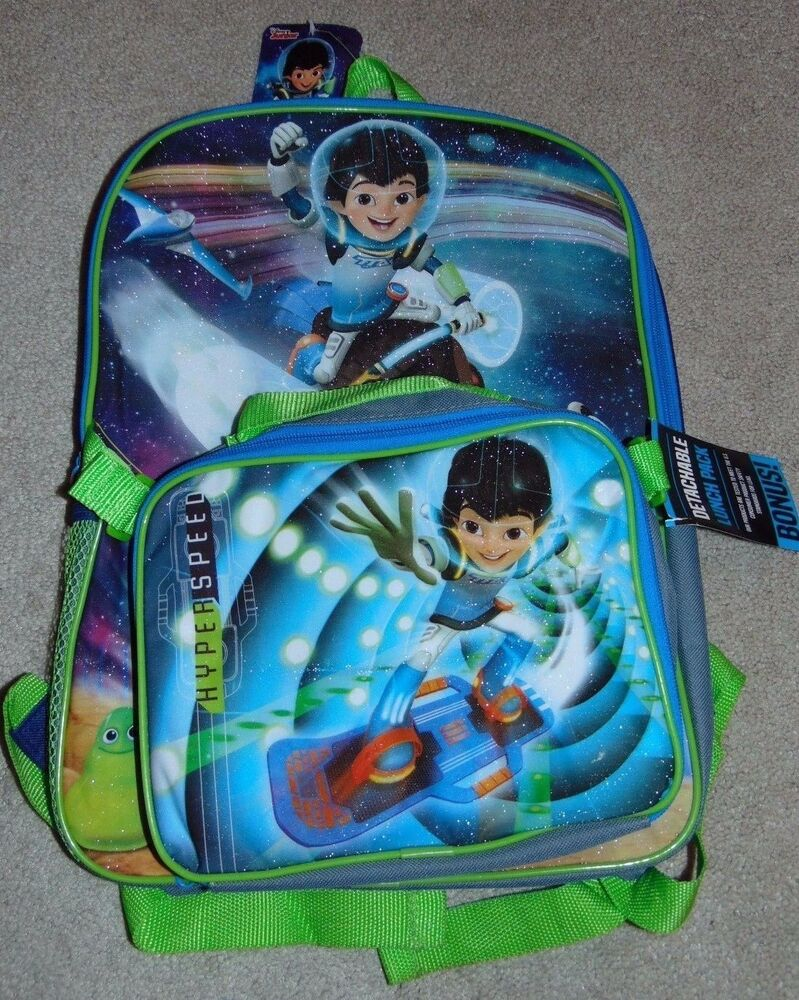 My Junior Miyo Ebay Nwt Boys Disney Jr Miles From Tomorrowland Backpack Lunch