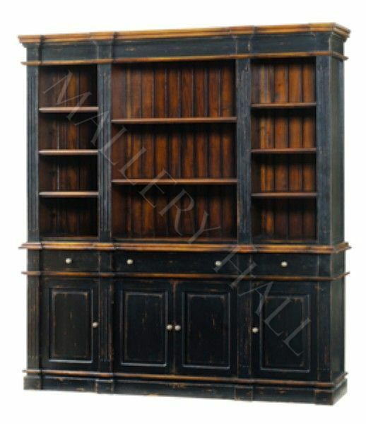 Kitchen Islands For Sale Ebay Casual Distressed Grand Library Wall Unit Bookcase | Ebay