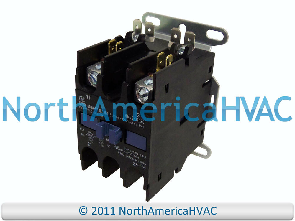 Carrier Bryant Contactor Relay 2 Pole 40 Amp HN52KD025 eBay