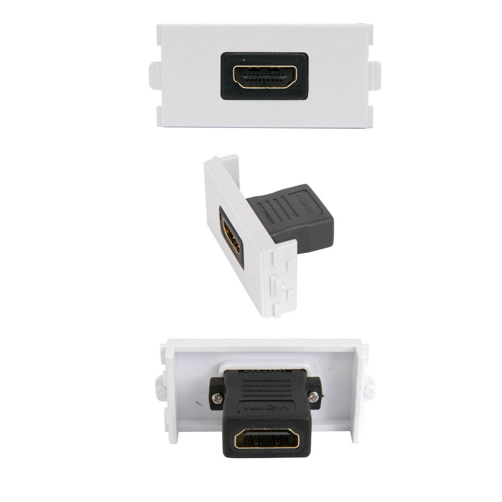 Hdmi Outlet Hdmi Female Socket Module Modular Wall Face Plate Outlet 3d High Speed V1 4 5055538125829 Ebay