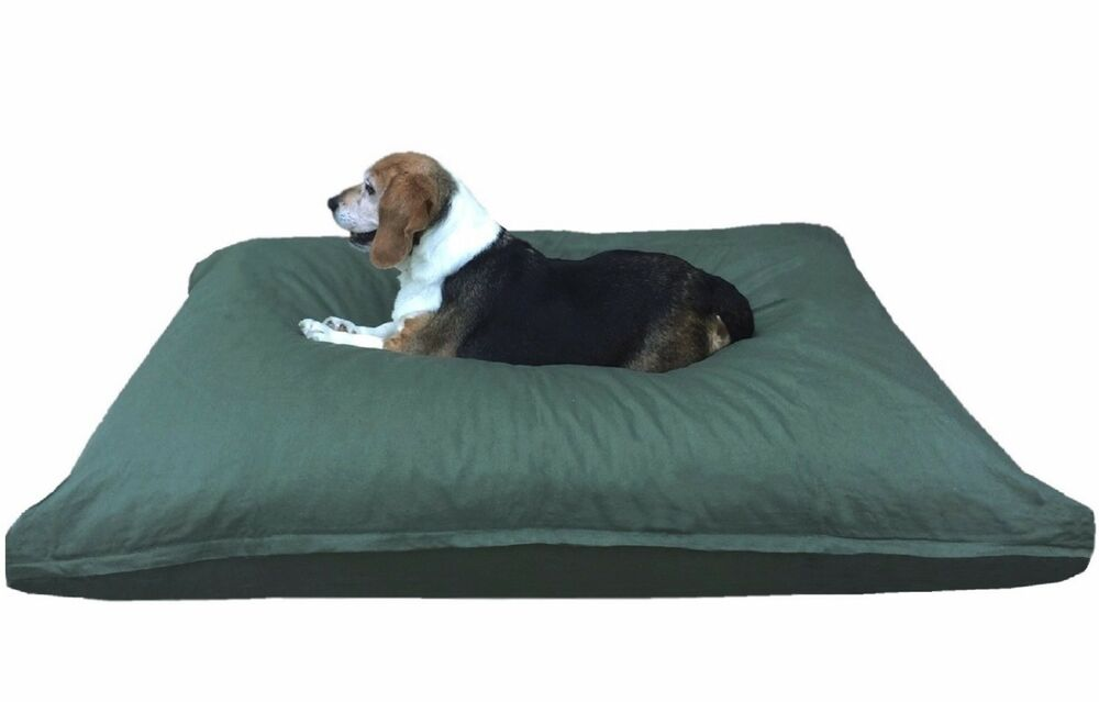 Heavy Duty Canvas Mix Memory Foam Pet Bed Pillow For