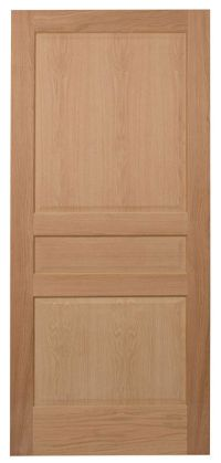 3 Panel Raised Panels Red Oak Stain Grade Solid Core ...