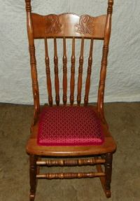 Cherry Carved Sewing Rocker / Rocking Chair (R97) | eBay