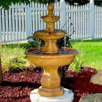 Water Fountain - Tropical 3-Tier Outdoor Electric Garden ...