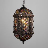 Moroccan Style Bronze Metal / Multi Coloured Jewel Ceiling ...