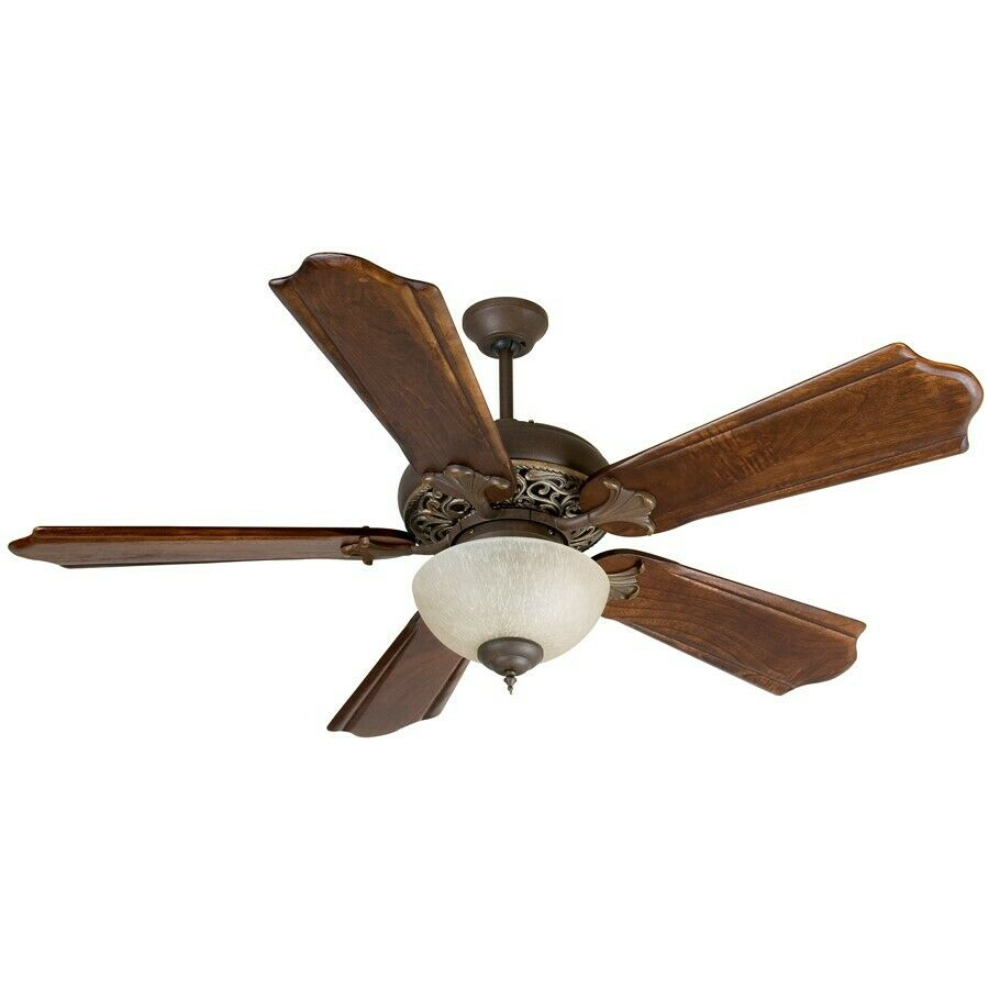 Craftmade Ceiling Fan, Aged Bronze / Vintage Madera Mia w