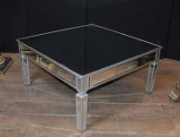 Art Deco Mirrored Coffee Table Glass Cocktail Tables | eBay