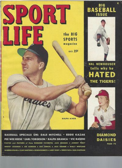 October 1949 Sport Life Magazine RALPH KINER DALE MITCHELL ...