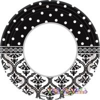 ENGAGEMENT PARTY Damask and Dots LARGE PAPER PLATES (18 ...