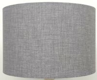 Silver / Grey Linen Style Cylinder / Drum Lampshades ...