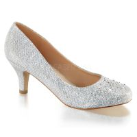 Silver Junior Bridesmaid Vintage Bridal Flapper Heels ...