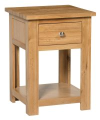 Small Oak Side Table | Wooden End/Lamp Table | Bedside ...