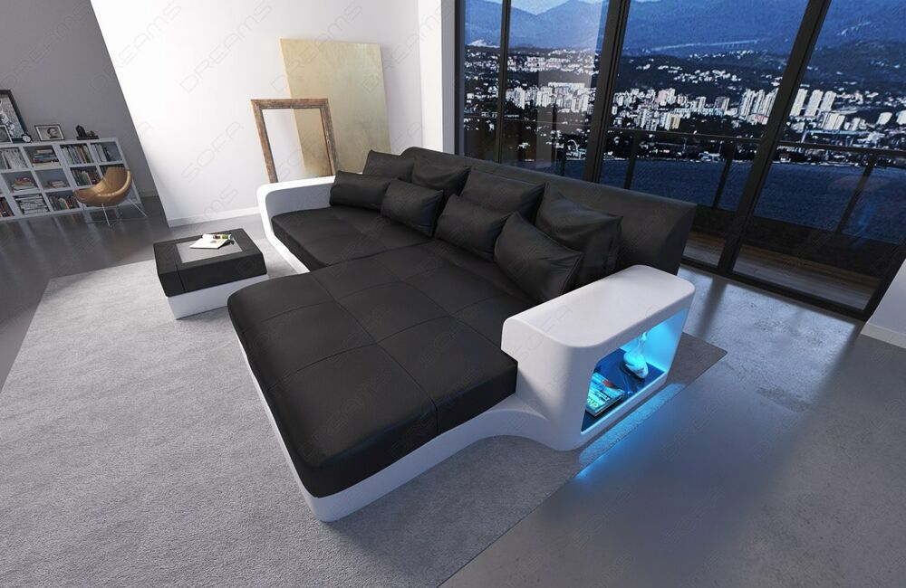Sofa Led Big Sofa Leather Sofa Milano With Led Lights Sectional