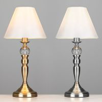 Large Chrome / Antique Brass & Glass Ball Touch Dimmer ...