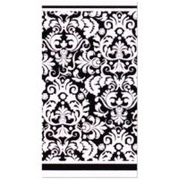 BLACK DAMASK PLASTIC TABLE COVER ~ Wedding Birthday Party ...