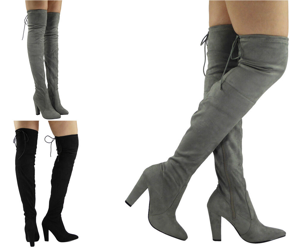 New Womens Ladies Thigh High Over The Knee Party Stretch