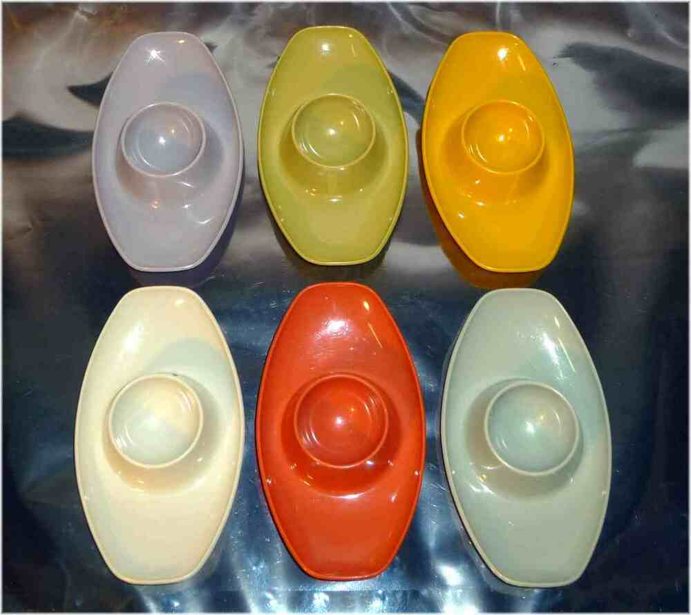 Retro Geschirr Vintage Retro 1960 S Set 6 Stacking Egg Cups Germany Valon