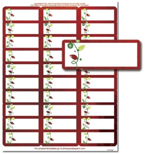avery christmas gift labels