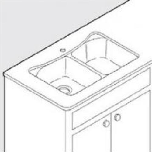 Moen Undermount Service Kit For 25200 Sink With Template