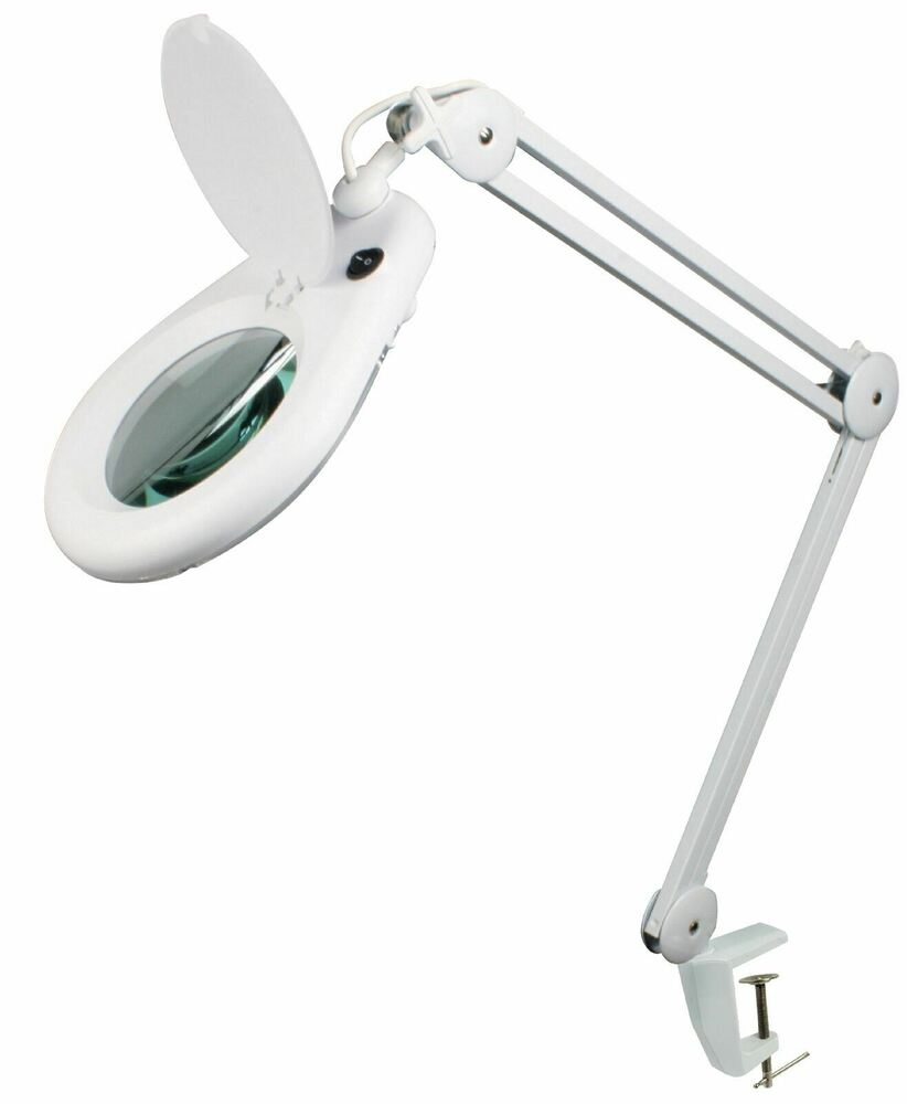 3 Diopter Desk Magnifying Magnifier Lamp Light Beauty
