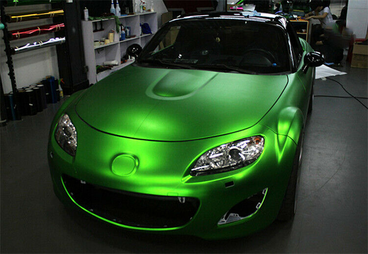 Ebay 3d Wallpaper Photo Satin Chrome Green Vinyl Wrap Roll Car Vehicle Wrap 1 52m