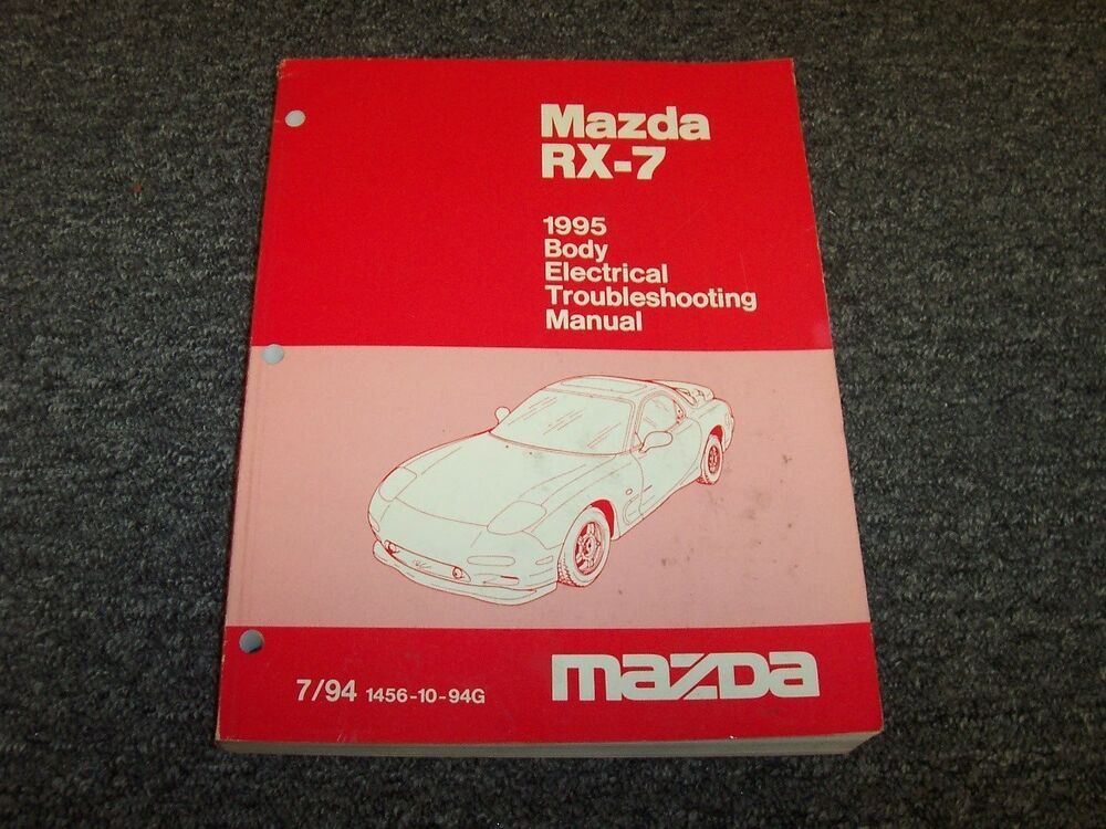1994 Mazda Rx7 Electrical Wiring Diagram Manual Index listing of