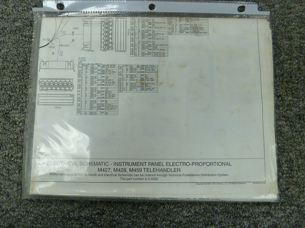 New Holland M427 M428 M459 Forklift Electrical Wiring Schematic