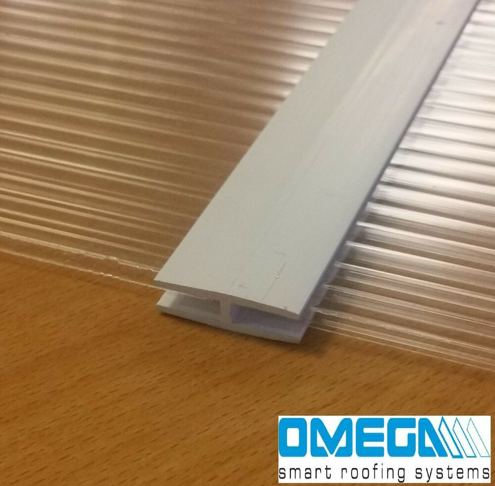 Joining Strip For 4mm Polycarbonate Sheets H Section Trim 610mm Or 1000mm Ebay - Polycarbonate Sheet