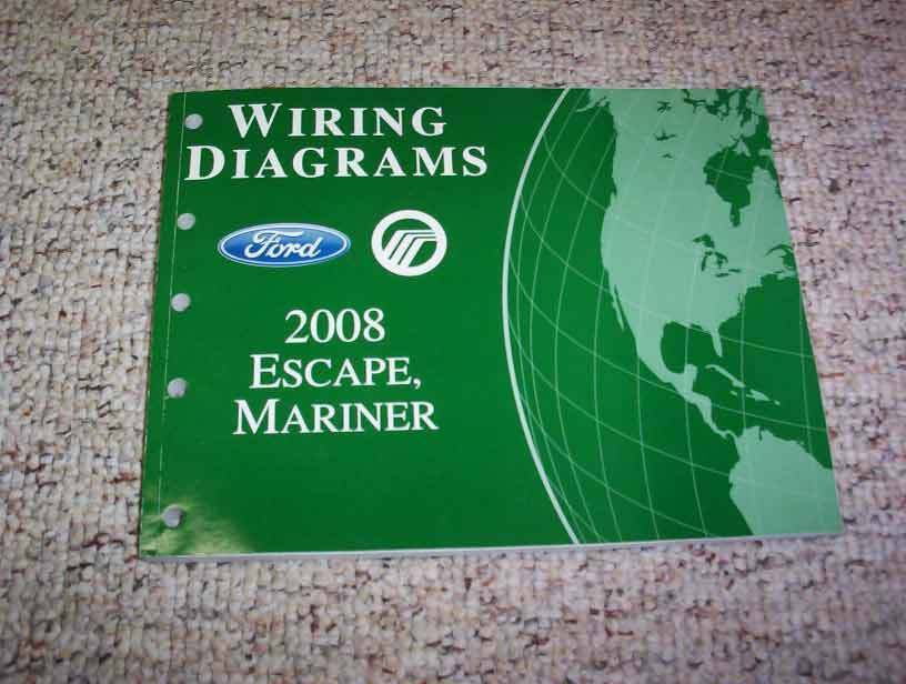 2008 Ford Escape Electrical Wiring Diagram Manual XLS XLT Limited