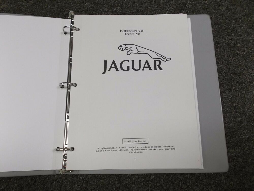 1988 Jaguar XJS Electrical Wiring Diagrams Manual Guide Book Coupe