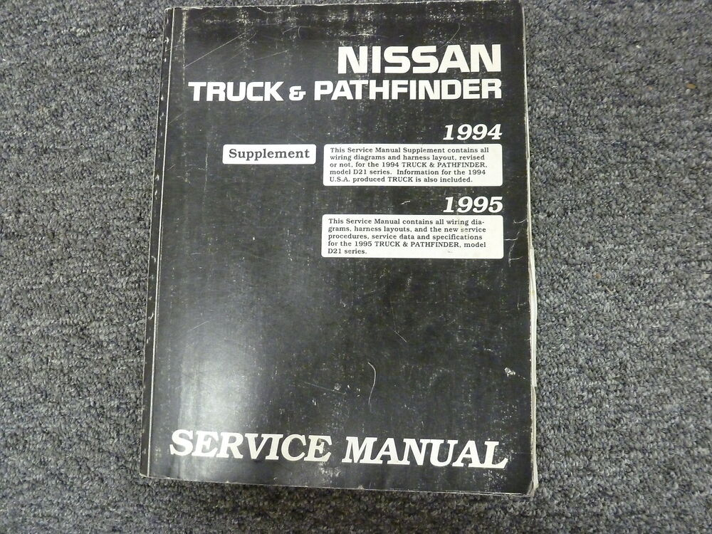 1994 1995 Nissan Pickup Truck Shop Service Electrical Wiring Diagram