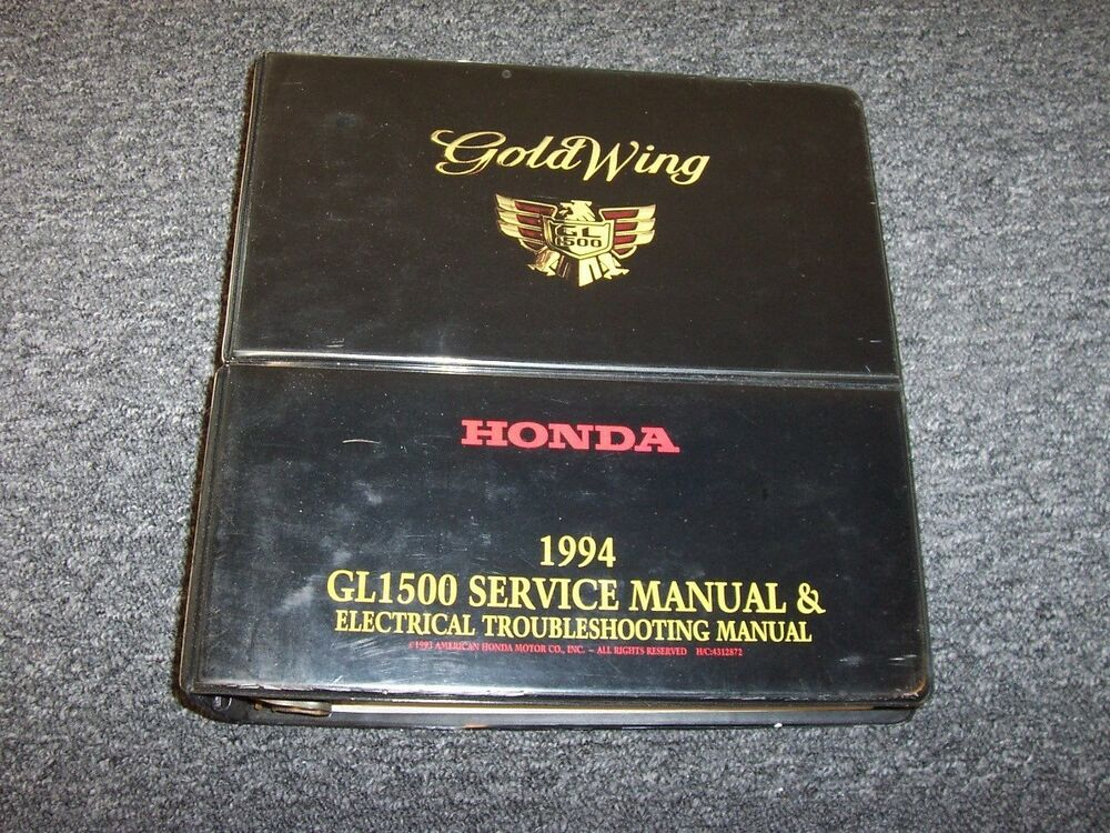 1994 Honda Goldwing GL1500 Electrical Wiring Diagram Shop Service