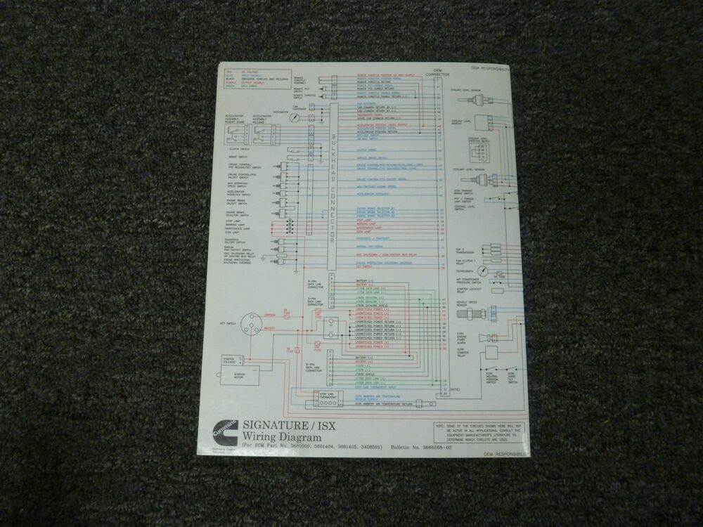 2005-2009 Cummins ISX Engine Electrical Wiring Diagrams Manual 2006