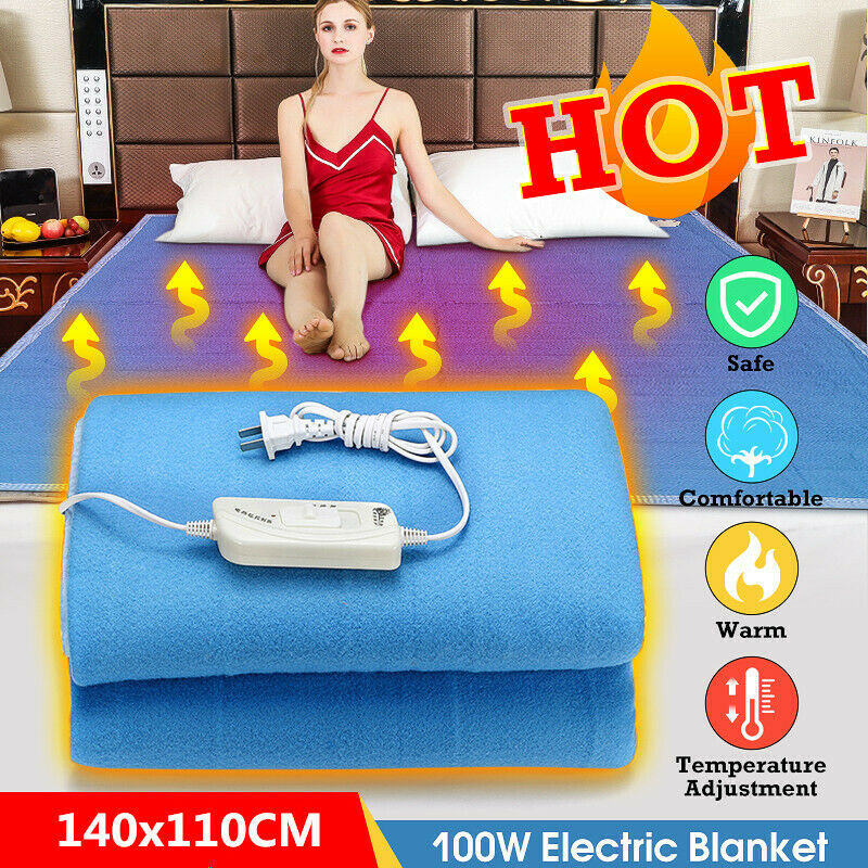 Bed Heater 140x110cm 100w Electric Heating Blanket Winter Warm Flannel Bed Heater Pad 220v Ebay