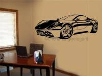 Sports Car Race Car Vinyl Decal Wall Sticker Garage Office ...