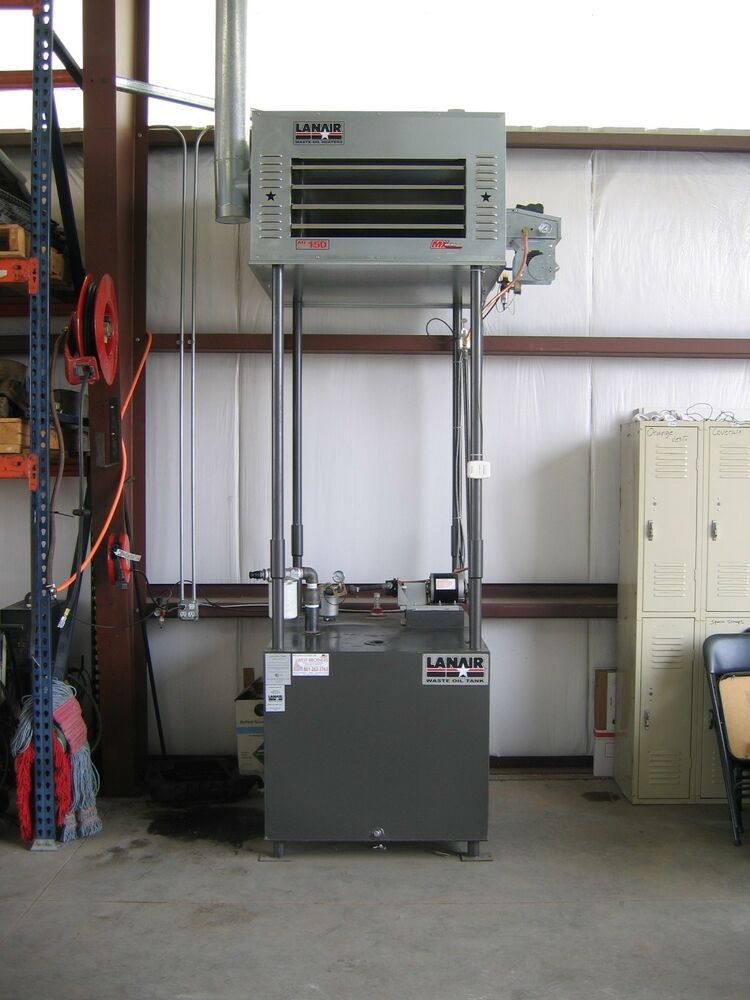 Waste Oil Heater Furnace Lanair Mx300 With Tank And